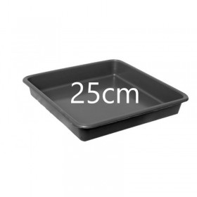 Soucoupe Profonde Carrée 25cm (Pour pots 11, 14, 18ltr)