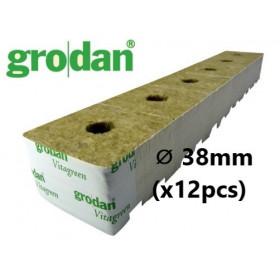 Cube Laine de Roche Grodan StartBlock ⌀ 38mm (x12pcs)