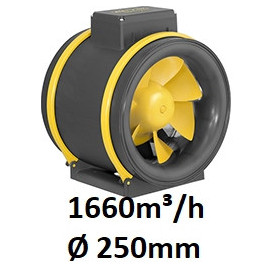 MAX-Fan Pro AC 1660 m³/h Ø 250mm 2 Vitesses