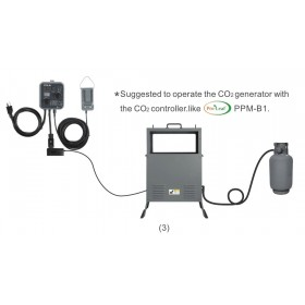 Co2 Kit Propane 4 Kw + controler automatique Pro-Leaf