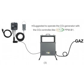 Co2 Kit gaz de ville  10 Kw + controler automatique...