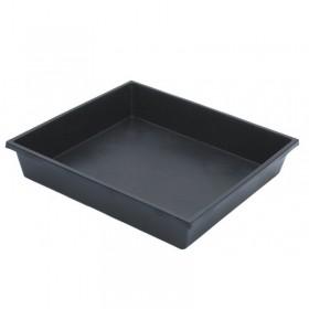 Plateau plastique noir non troué 45x41x7cm