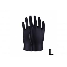 Gants de Protection en Nitrile Noir (x50pcs) L