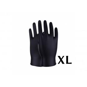 Gants de Protection en Nitrile Noir (x50pcs) XL