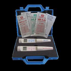 Kit testeurs pH & EC malette pH55 + EC60 Milwaukee