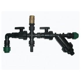 Kit sortie pompe avec filtre, valve, robinet,...